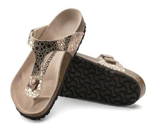 Zapato Birkenstock Gizeh Metallic Stones Copper