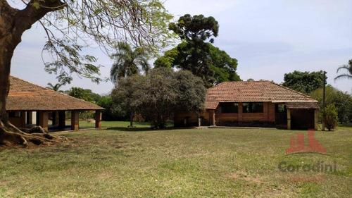 Chácara Com 5 Dormitórios À Venda, 10400 M² Por R$ 2.500.000,00 - Fazenda Velha - Nova Odessa/sp - Ch0128