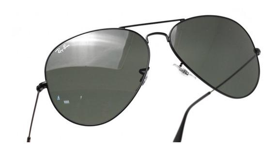 Óculos Ray Ban 3026 Large Metal Ii 62-14, Preto, Original!