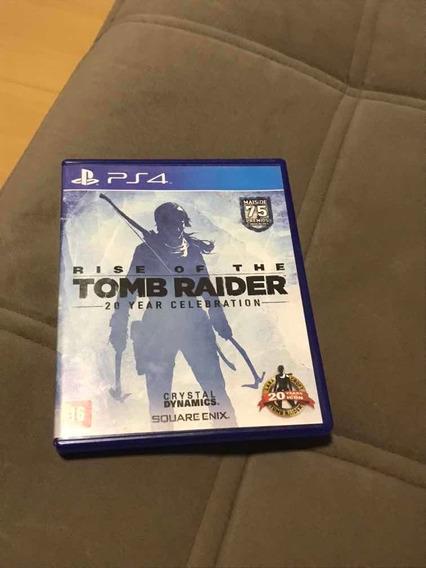 Rise Of The Tomb Raider-edição 20 Anos Mídia Física Para Ps4