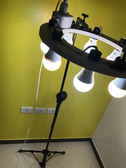 Ring Light 40cm Reclinação Fixa (acompanha As Lâmpadas9w)