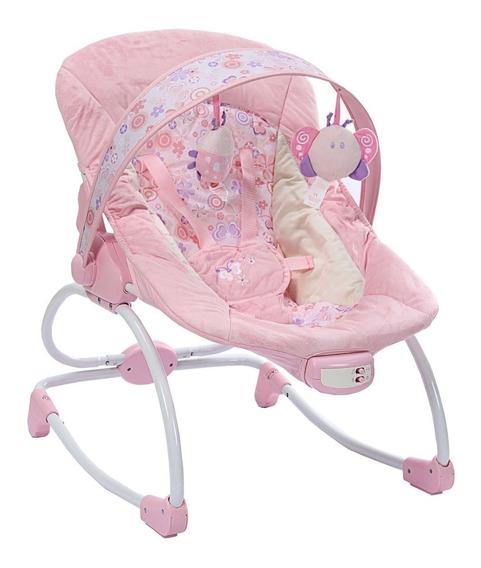 Cadeira Cadeirinha Descanso Balanço Vibra E Musical18kg Rosa