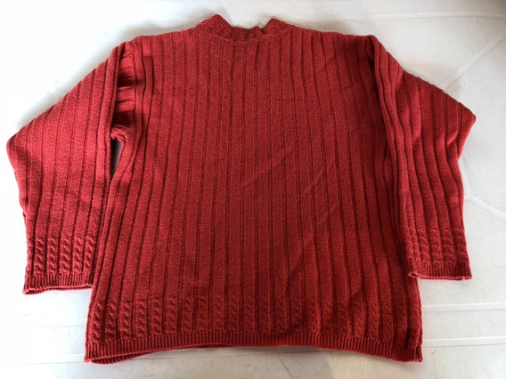 Sweater De Lana Color Terracota Talle L