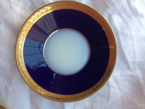 Platito Azul Cobalto Y Oro Est, Imperio Confiteria Del Gas