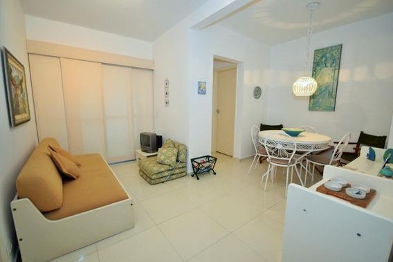 Apartamento Em Praia Das Pitangueiras, Guarujá/sp De 55m² 1 Quartos À Venda Por R$ 250.000,00 - Ap413013