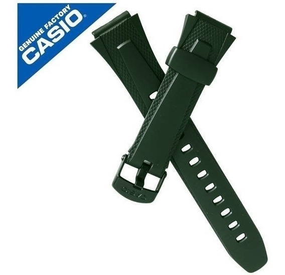 Pulseira Casio 100%original Resina Verde W-752 W-753 W-755
