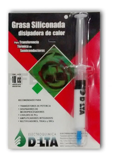 Grasa Siliconada Jeringa 10 Cc Disipadora Delta Cooler Micro