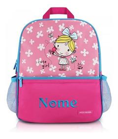Mochila Escolar Infantil Personalizada Com Nome Jacki Design