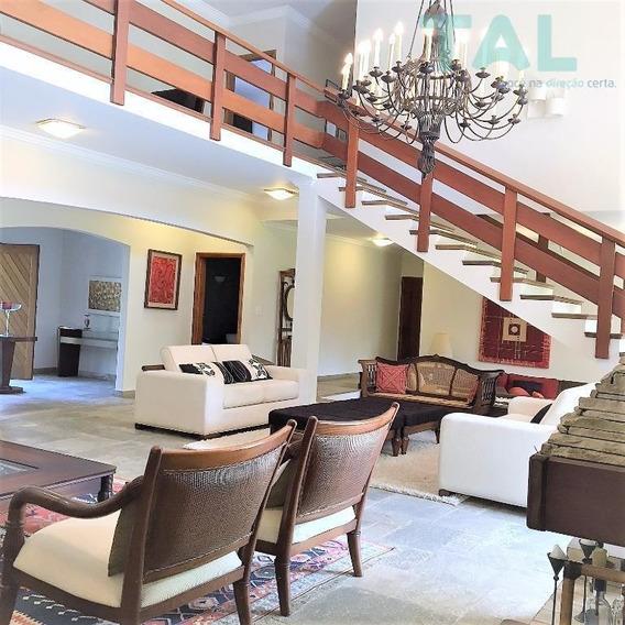 Casa À Venda, Condomínio, Gramado, 6 Suítes, 5000 M² Terreno, 1.100 M² Construção, Campinas. - Ca0094