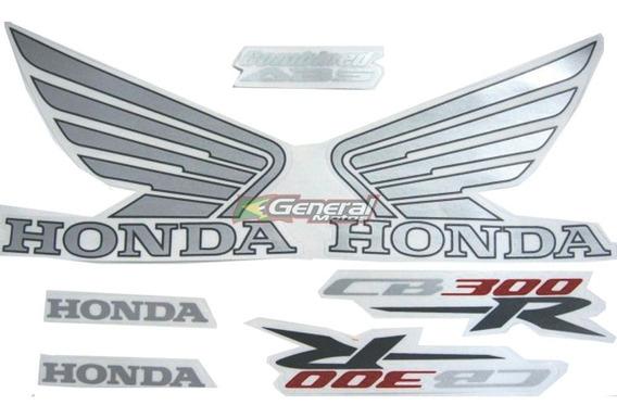 Kit Adesivo Jogo Faixas Moto Honda Cb 300r 2013 Preta