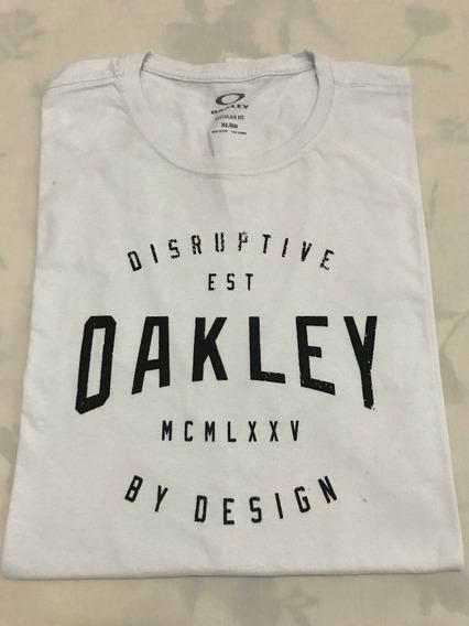 Camiseta Básica Oakley Tamanho Gg Xl Original Bom Estado