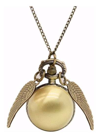 Collar Reloj Snitch Dorada Golden Harry Potter Envío Gratis
