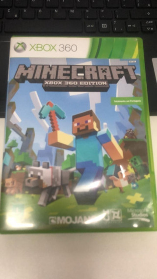 Jogo Minecraft Xbox 360 Original Mídia Física Usado Original