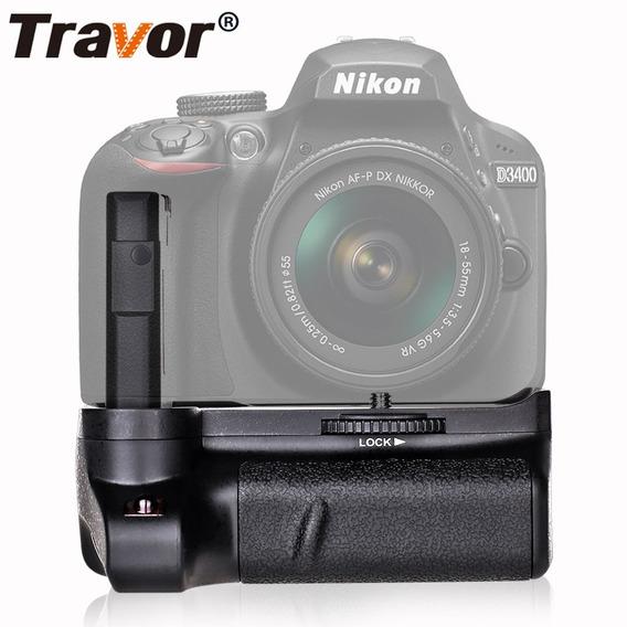 Battery Grip Travor Bg-2v Nikon D3400 Dslr Bateria En-el14