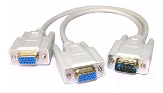 Splitter Vga Macho A 2 Vga Hembra Doble Monitor Adaptador