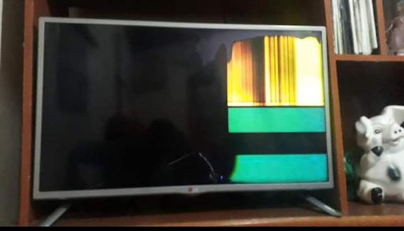 Smart Tv Lg 32ly340c Display Trincado
