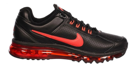 Tenis Nike-air Max 2013 Leather Negro-originales 599455-011