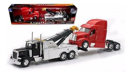 Imagen 1 de 2 de New Ray Ss-12053 Toys 1: 32 Escala Peterbilt Camión De Remo