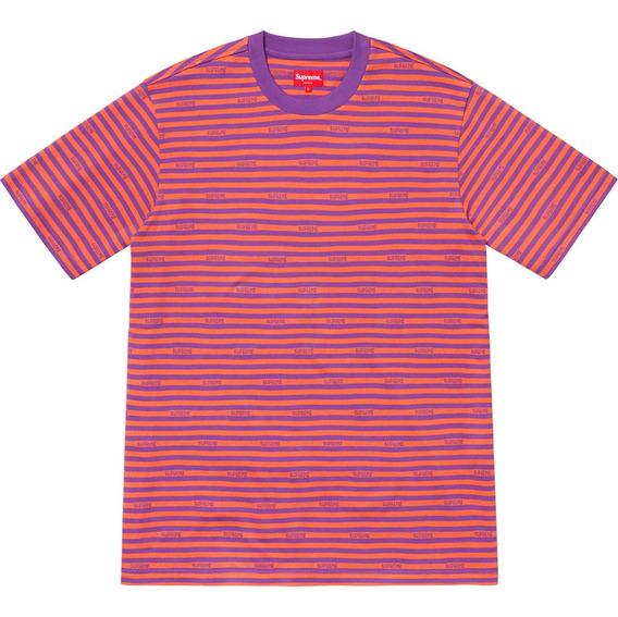 Playera Supreme - Logo Stripe S/s Top - Talla L