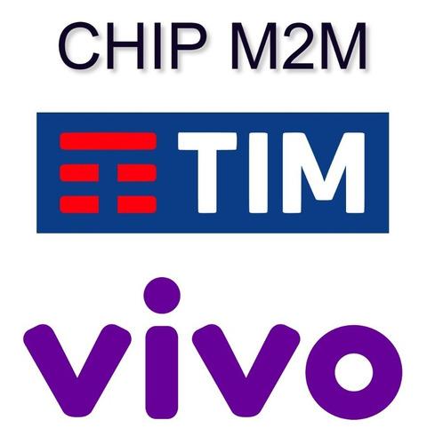Chip M2m Para Rastreador Tim Claro E Vivo
