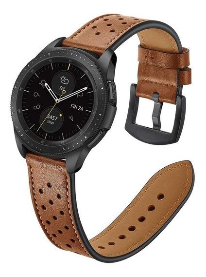 Pulseira Samsung Galaxy Watch 42mm Couro Legítimo + Película