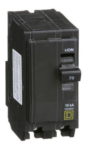 Imagen 1 de 3 de Interruptor Termomagnético Qo270 2 Polos 70a 10ka Schneider