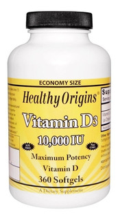 Vitamina D3 10.000ui Healthy Origins 360 Softgels Original