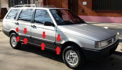 Fiat Duna Weekend Baguetas Negras Con Vira Plateada Molduras
