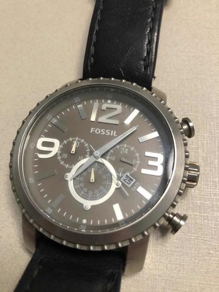 Relógio Fóssil Bq1175 Pulseira Couro 100% Original