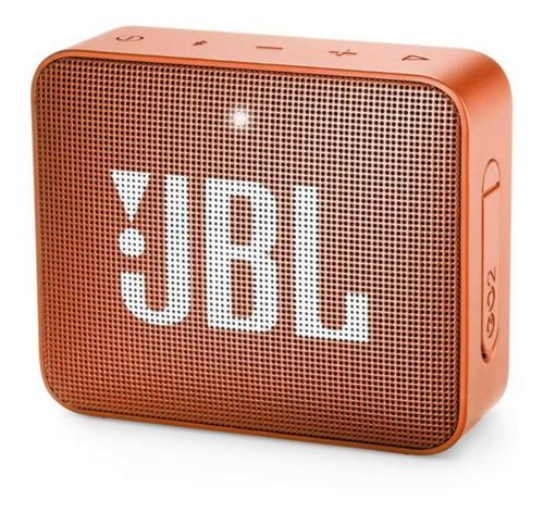Imagem 1 de 4 de Alto-falante JBL Go 2 portátil com bluetooth coral orange 110V/220V