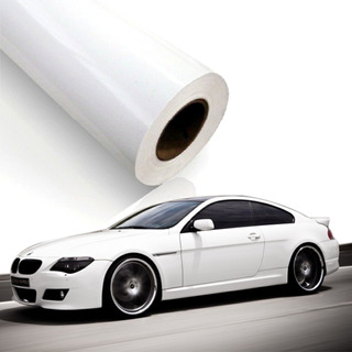 Vinilo Blanco Brillante 200x120cm Para Autos