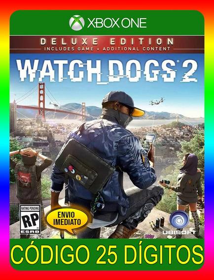 Watch Dogs 2 Deluxe Xbox One - 25 Dígitos (envio Já)