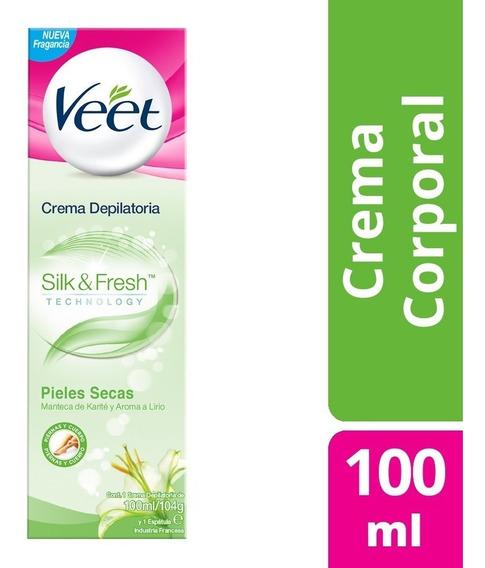 Veet Crema Depilatoria Corporal 100ml Silk&fresh Piel Seca