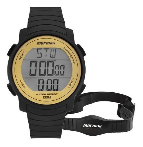 Relógio Mormaii Frequencímetro Mo11560aa/8d Amarelo Digital