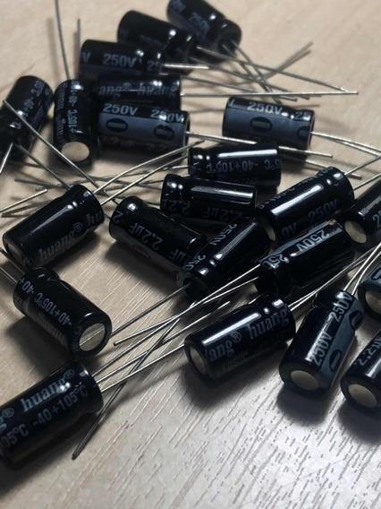 Capacitor Eletrolítico 2,2uf X 250v Huang * 20 Pçs