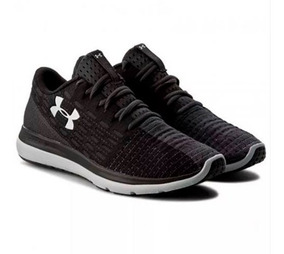 Tenis Under Armour Negro Verde Hombre Zapatillas Original
