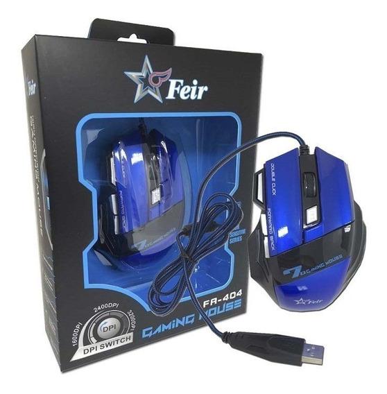 Mouse Gamer Óptico Com Fio 2400dpi Usb Feir Pronta Entrega