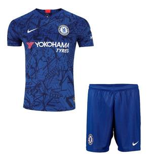 Uniforme Do Chelsea Azul Infantil Original - Com Desconto