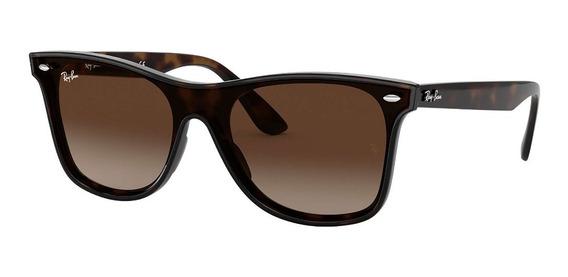 Óculos De Sol Ray Ban Rb4440n 710/13 01-41 Blaze Wayfarer Marrom Degradê Original