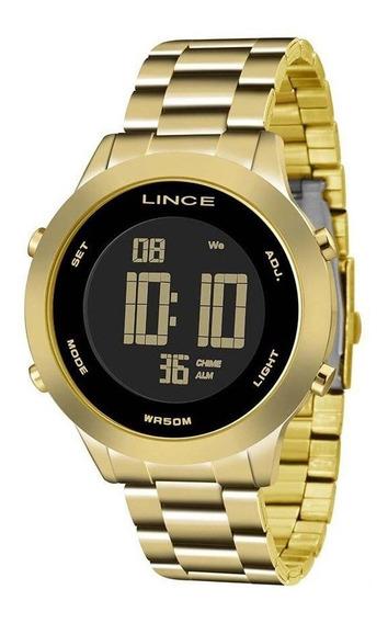 Relógio Feminino Lince Digital Dourado Sdph038lpxkx