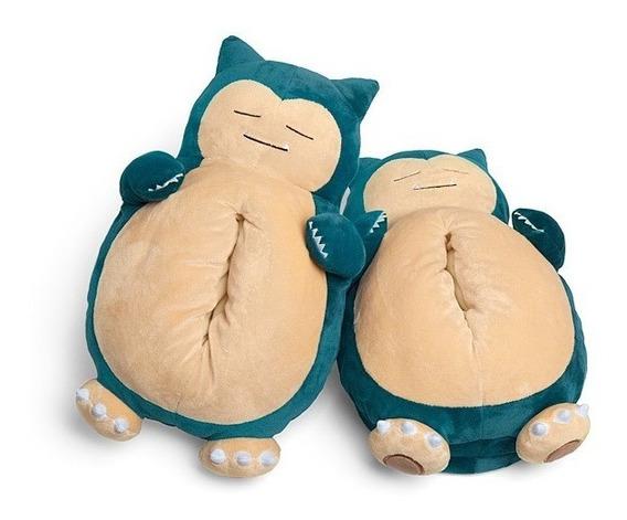 Pantuflas Pokémon Snoring Snorlax Con Sonido Unisex Original