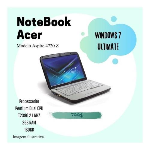 Notebook, Acer, Aspire 4720z
