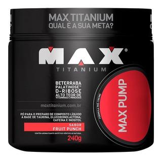 Pré-treino Max Pump 240g - Max Titanium
