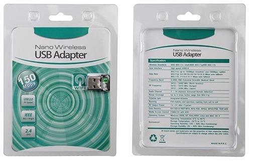 10 Unidades De Adap.usb Wifi 150mb