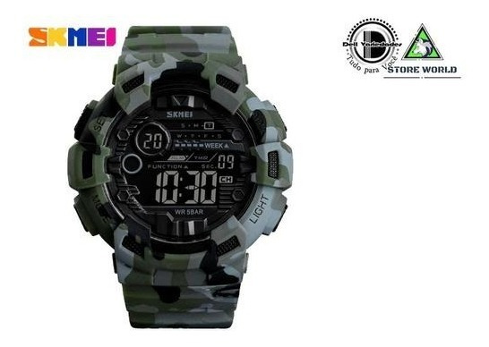 Relógio Skmei 1472 Camuflado Militar Esportivo + Brinde