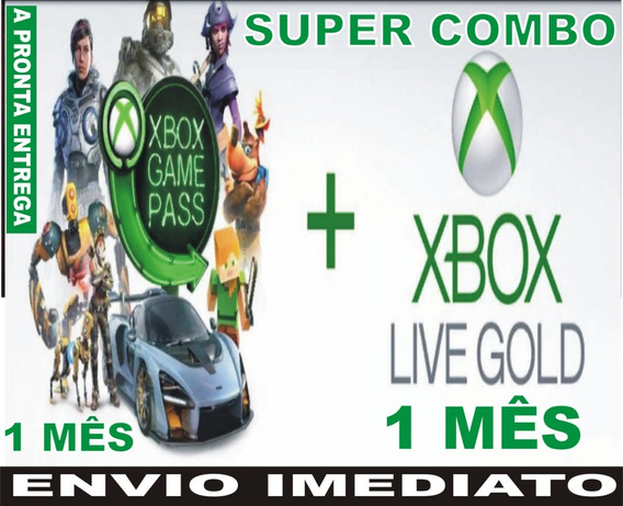 Xbox Live Gold 1 Mês + Game Pass Ultimate 1 Mês Xbox One
