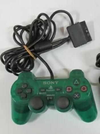 Controle Ps2 Verde Translúcido Original Sony