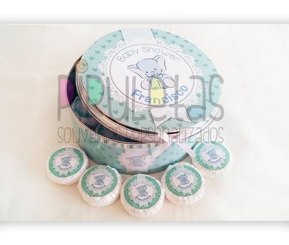 Lata Central C/cinta + 24 Jabones Personalizados - Souvenirs