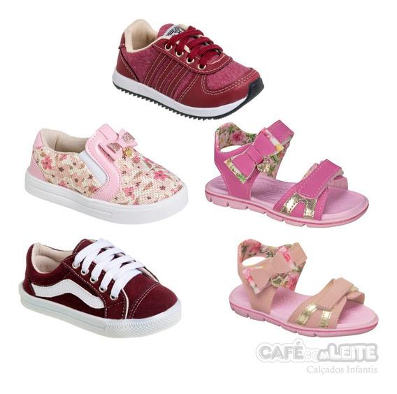 Kit Tênis Menino +slipper E Papete Menina Infantil (5 Pares)