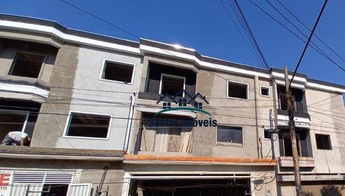 Sobrado + Cobertura Com 03 Quartos(01 Suíte )espaço Gourmet, 04 Vagas  À Venda, 150 M²  - Vila Alto De Santo André - Santo André/sp - So0414
